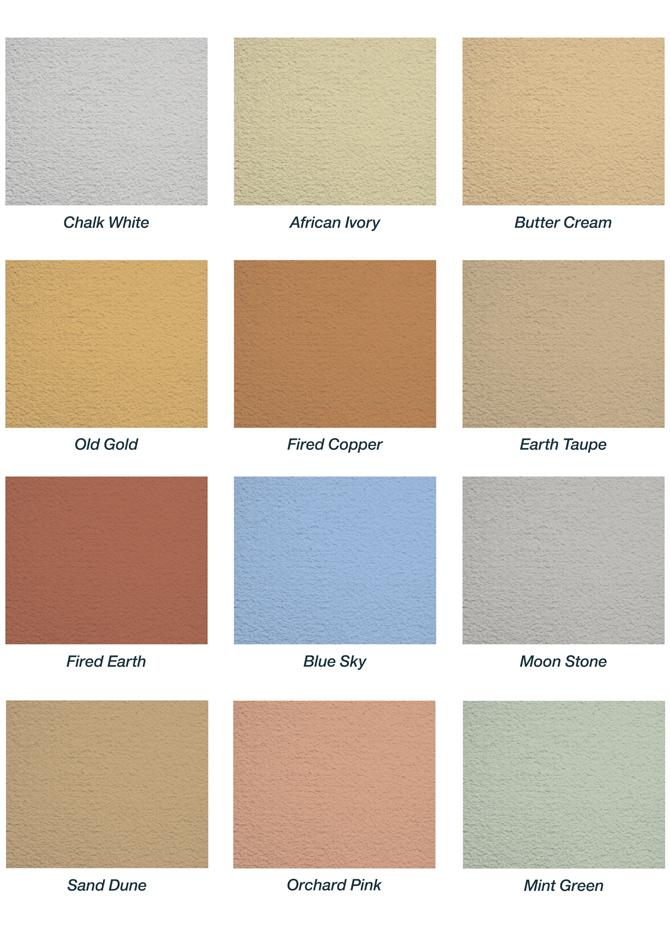 Homeshield Coating Ltd Exterior Walls Colour Choices